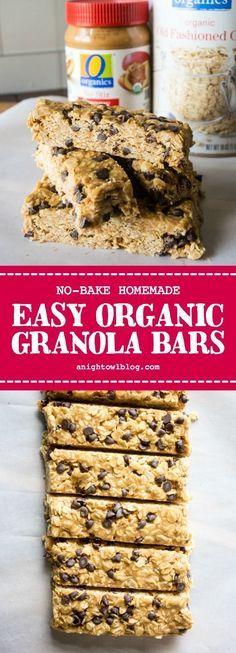 Get on the road to better snacking with these No Bake Homemade Organic Granola Bars made with O Organics® from Albertsons and Safeway stores. Healthy Food Options, Healthy Snacks, Healthy Recipes, Cheap Recipes, Eat Healthy, Easy Recipes, Healthy Living, Popsugar, Granola Barre