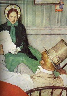 Norman Rockwell painting of Jo from Little Women