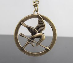 The Hunger Games pendant ,Inspired Mockingjay Necklace