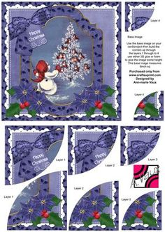 All Together Christmas 6in Duo Corner Stacker Card Front on Craftsuprint - Add To Basket!