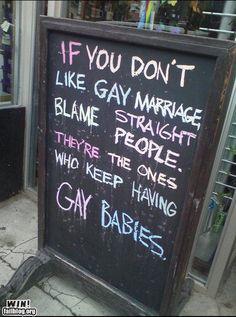 Straight people