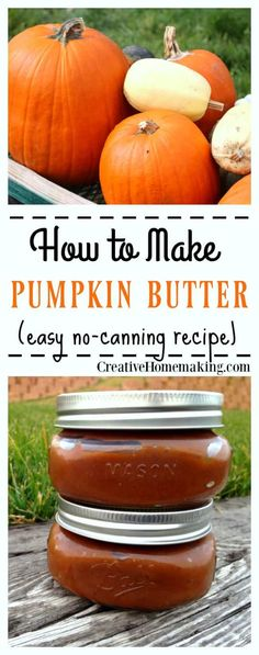 Easy recipe for homemade pumpkin butter (make it in 30 minutes or less! Keep it for yourself or give it away as a gift. (Easy Meal To Freeze) Pumpkin Recipes, Fall Recipes, Simple Recipes, Party Recipes, Amazing Recipes, Veggie Recipes, Bread Recipes, Yummy Recipes, Healthy Recipes