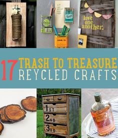 17 Trash to Treasure Recycled Crafts | Turn something old to something new with these great craft ideas. #DiyReady www.diyready.com