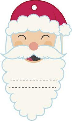 Etiqueta de Santa. Christmas Tags Printable, Christmas Labels, Christmas Holidays, Christmas Crafts, Christmas Decorations, Printable Tags, Merry Christmas, Kawaii Gifts, Card Box Wedding