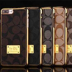 コーチ メッキ加工iPhone7/7 Plus/6s/5SEケースGalaxy S7 Edge/s6 edge plus/s6/5ハードケース薄いギャラクシーNote7/5/4携帯カバービジネス風Coach