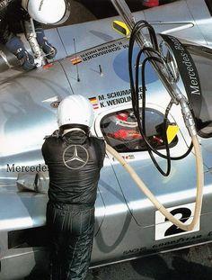 1991 Michael Schumacher karl wendlinger 24 le mans Sauber Mercedes