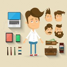 Character design set by Kovacs Tamas, via Behance