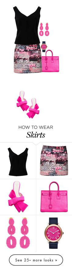 """""""Bright"""" by terry-tlc on Polyvore featuring Delpozo, Yves Saint Laurent, Giamba, ADAM, Marc Jacobs, Oscar de la Renta, fashionset and polyvoreeditorial"""