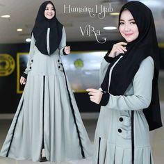 Next Vira by Humaira Hijab Women's Fashion Dresses, Hijab Fashion, Dress Outfits, Kaftan Designs, Hijab Style, Muslim Dress, Muslim Women, Classy Dress, Womens Fashion