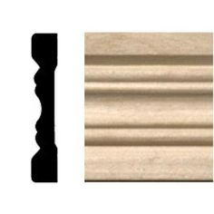 House of Fara 3/8 in. x 2-1/4 in. x 7 ft. Hardwood Fluted Casing/Chair Rail Moulding-615 - The Home Depot