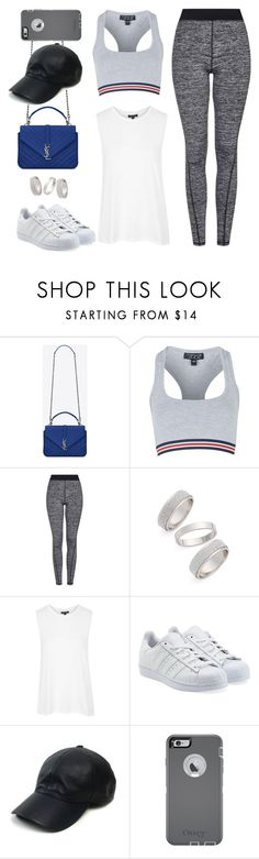 """""""Untitled #8938"""" by katgorostiza ❤ liked on Polyvore featuring moda, Yves Saint Laurent, Topshop, adidas Originals, Vianel y OtterBox"""