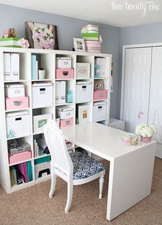Gorgeous home office space. Perfect in spare bedrooms or in a corner of an extra large living room! by colleenmuis