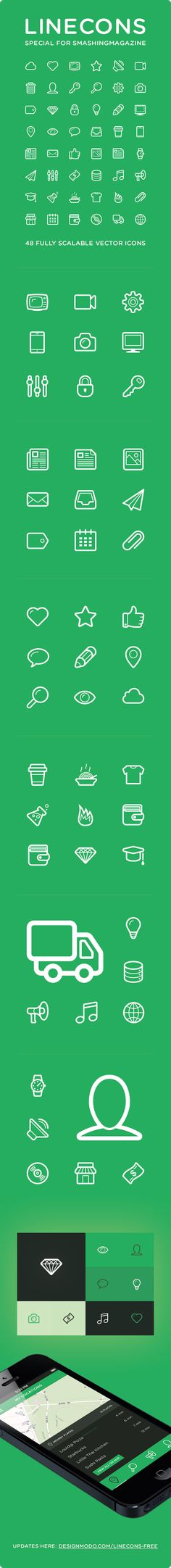 February 2nd, 2013...Polaris UI Kit + Linecons Icon Set (AI, PDF, PNG, PSD, SVG) from Smashing Magazine ...Freebies...We are pleased to feature the Polaris UI icon set that includes useful UI components and 48 beautiful icons. This freebie was created by the team at Designmodo. As usually, you can use the set for all of your projects for free and without any restrictions