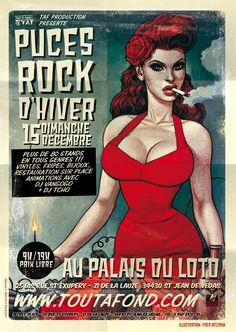 Puces Rock d'hiver dimanche 15 décembre, suivez les infos de l'événement sur http://pucesrock.blogspot.fr/