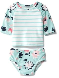Patterned 2-Piece Rashguard Swim Set for Baby Product Image