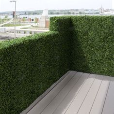 Artificial Outdoor Boxwood Railing Hedge - - outdoor planters - - by Home Infatuation