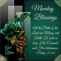 Monday Blessing. 35:10- God Bless.