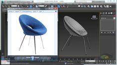 Tutorial - Modelagem de cadeira anel no 3Ds Max - Ring Chair 3d Max Tutorial, 3ds Max Design, Vray Tutorials, 3d Things, Chair Design Wooden, 3d Interior Design, Autodesk 3ds Max, Modelos 3d, 3d Studio