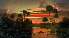"The Great Florida Sunset,"" by Martin Johnson Heade,"