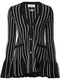 Thom Browne flared striped cardigan