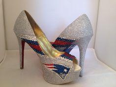 New England Patriots Heels www.madebybunny.com