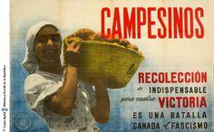 Campesinos, la recolección es indispensable para nuestra victoria : es una batalla ganada al fascismo :: Cartells del Pavelló de la República (Universitat de Barcelona)
