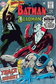 Classic cover by Neal Adams for The Brave and the Bold #79, published by DC Comics, August 1968, and a 1981 homage by Fred Hembeck.