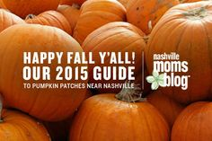 Happy Fall Y'all! Our 2015 Guide To Pumpkin Patches Near Nashville | Nashville Moms Blog