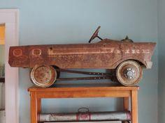 FIre Truck Pedal Car - Vintage Pedal Car