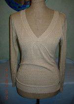 Elegancki złoty sexy sweterek Motivi bluzeczka