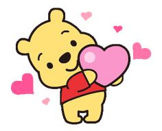 LINE Official Stickers - Heartwarming Winnie the Pooh Example with GIF Animation Winnie The Pooh Gif, Winne The Pooh, Cartoon Gifs, Cute Cartoon Wallpapers, Cute Love Gif, Cute Kawaii Drawings, Cute Disney Wallpaper, Line Sticker, Animated Gif
