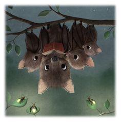 Bats. Illustration by SYDNEY HANSON