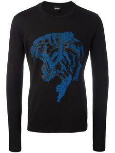 JUST CAVALLI Feline Print Sweatshirt. #justcavalli #cloth #sweatshirt