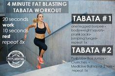four minute fat blasting tabata