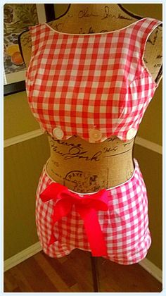 ADORBLE 50's VINTAGE Swimsuit/ 2 piece bathing by PussycatAlice, $168.00 Women's vintage summer swimwear fashion