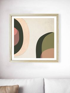 Printable Millennial Pink Forest Green Mid Century Modern Print | Blush Pink Print | Abstract Geometric Art | Green Print | Pink Wall Art  PLEASE NOTE:  This listing is an INSTANT DIGITAL DOWNLOAD SET OF THESE TWO PRINTS. No physical artwork will be sent. Once purchased, you will