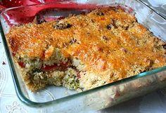 Quinoa, Broccoli, and Vegan Cheese Casserole