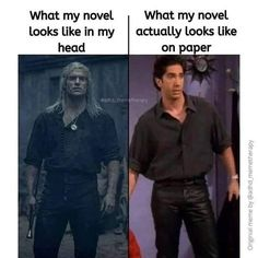 What my novel looks like in my head Vs. what actually looks like on paper #amwriting #writing #Writers #writer #WritingCommunity #novel #writerslife #author
