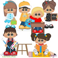 School Time SVG-MTC-PNG plus JPG Cut Out Sheet(s) Our sets also include clipart in these formats: PNG & JPG