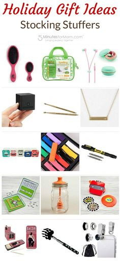 Holiday Gift Guide - Stocking stuffers - fun low cost gift ideasfor everyone on your Christmas shopping list.