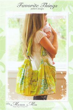 Favorite Things - Mama Mia Diaper Bag-favorite things, Mamma Mia Diaper Bag, diaper bag pattern, newborn pattern, bag pattern, tote pattern, carry-all pattern