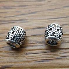 925 Sterling Silver Thai Silver Lotus Beads Retro Design DIY Findings LFJ51