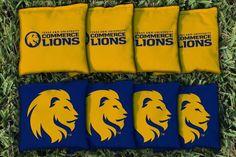 Texas A&M Commerce Lions All Weather Cornhole Replacement Bag Set