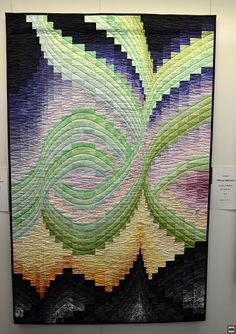 Bargello quilt - looks like northern lights PIC Bargello Quilt Patterns, Bargello Quilts, Quilt Patterns Free, Arte Judaica, Longarm Quilting, Patchwork Quilting, Quilting Designs, Quilting Tutorials, Quilting Ideas