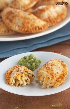 Cheesy Chicken Empanadas #recipe