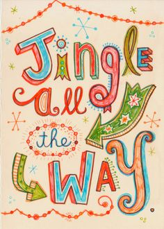 Totally in love with these hand-lettered Christmas cards from Linzie Hunter.