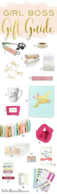 Love the unique ideas included in this Girl Boss Gift Guide for 2016. Great Christmas gift ideas for the woman entrepreneur or creativepreneur in your life.