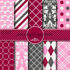 Digital Paper Pack  Orchid Collection  10 by Juliasdigidesign, $3.50