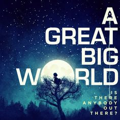 A Great Big World Announce Album Release Date, Reveal Artwork and Track List Now THAT is a great album cover. Goes with my Sun, Moon, Planet, and Stars Board in Pinterest and maybe Goodnight, Sweet Dreams, Sleep with the Angels.