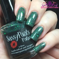 """Polish and Paws: """"Emerald City"""" by Sassy Pants Polish The Wizard of Oz Collection ~ Holiday 2015"""